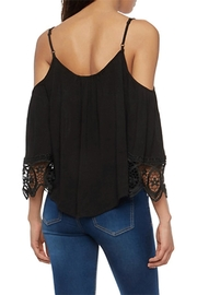 Ambiance Cold-Shoulder Lace Blouse - Front full body