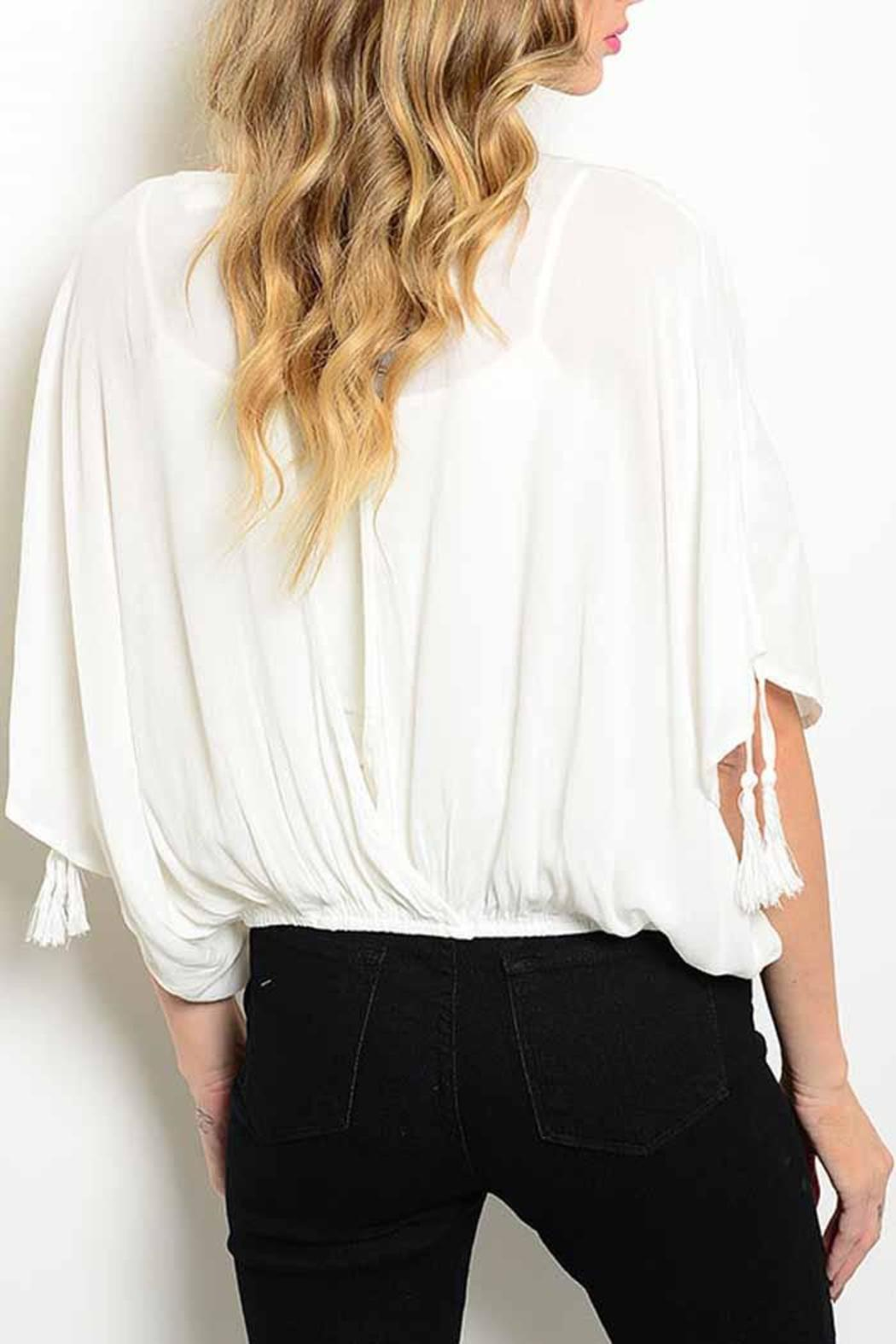 2ebb08c628518e Ambiance Dressy White Blouse from New York by Avenue A — Shoptiques