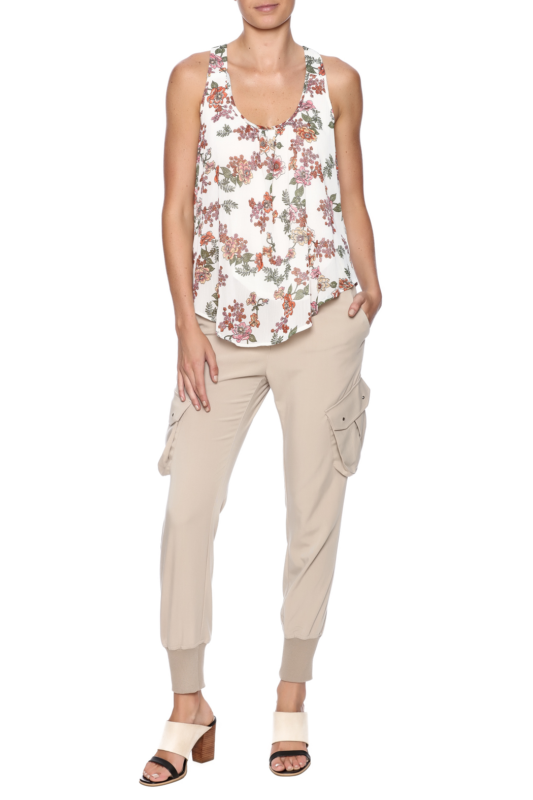 Ambiance Floral Print Tank - Front Full Image