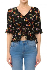 Ambiance Front Ruched Crop-Top - Front cropped