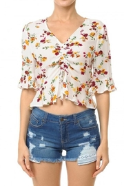 Ambiance Front Ruched Crop-Top - Product Mini Image