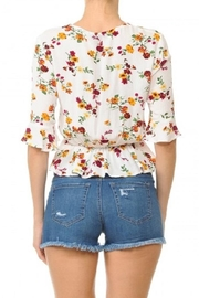 Ambiance Front Ruched Crop-Top - Side cropped