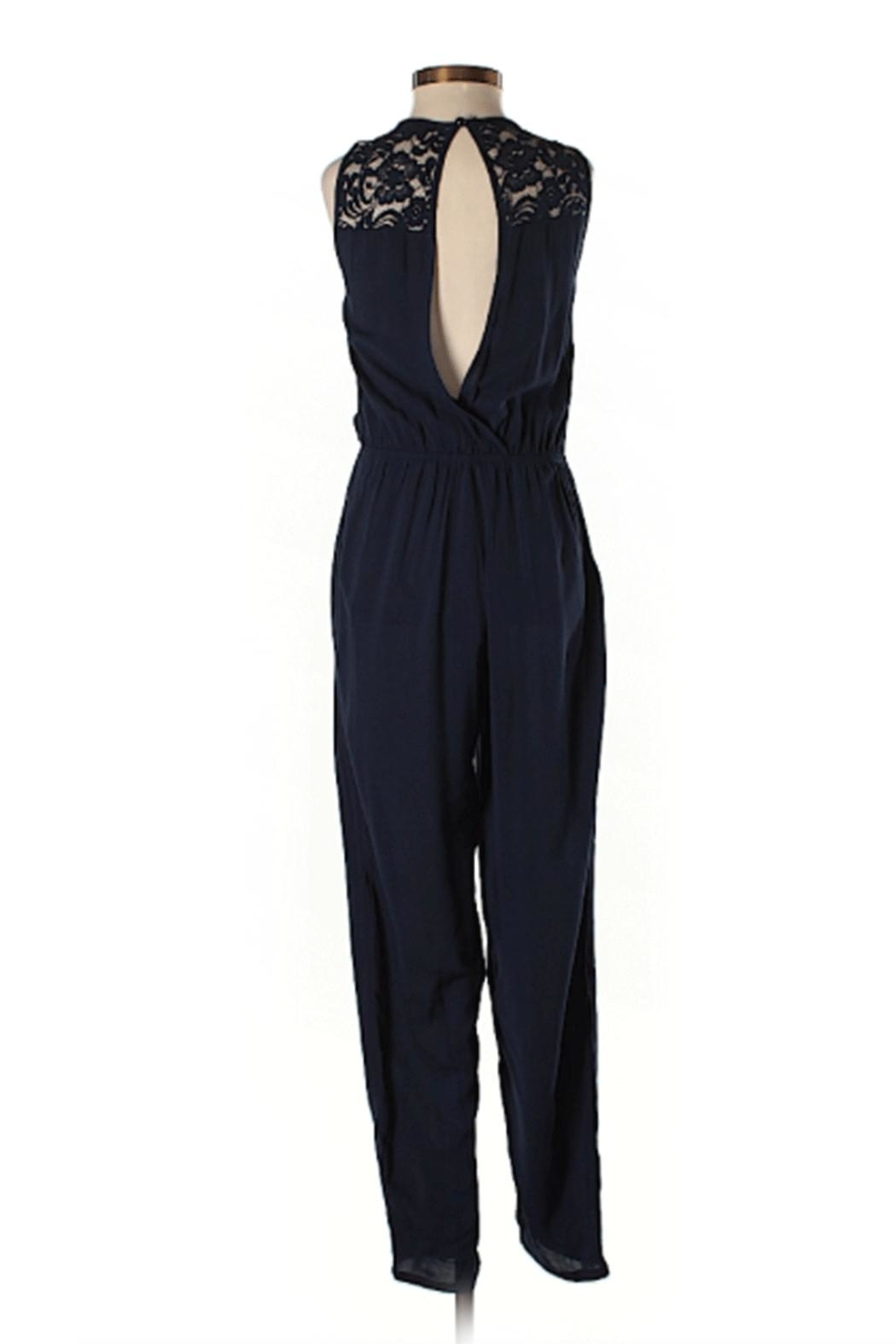 Ambiance Lace Detail Jumpsuit - Front Full Image