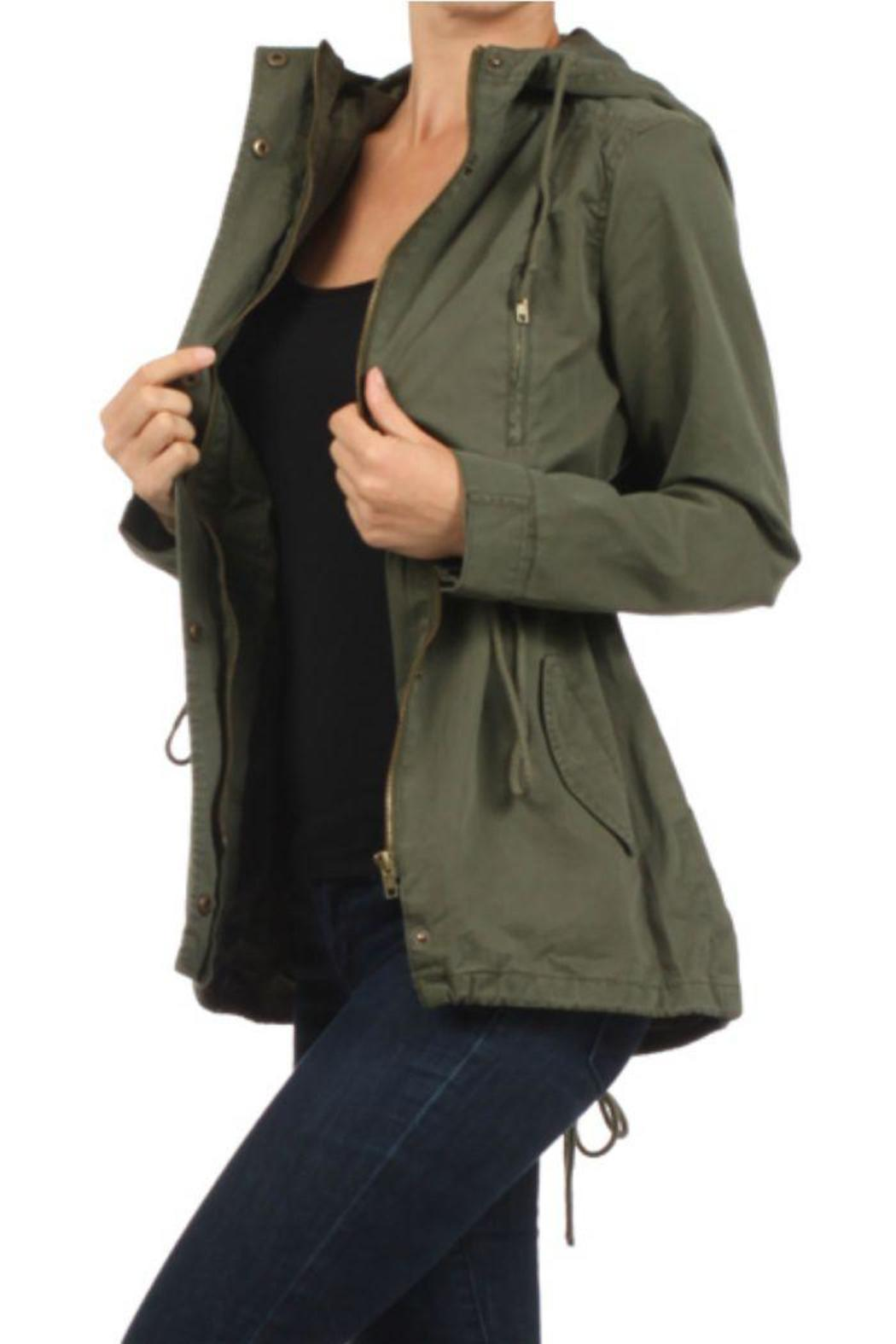 Ambiance Olive Military Jacket From Huntington Beach By