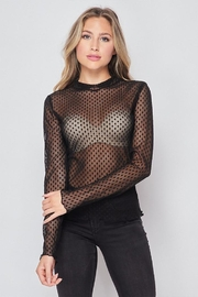 Ambiance Polka Dot Mesh Top - Product Mini Image