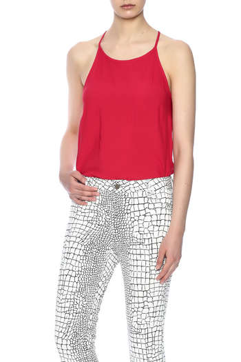 Shoptiques Product: Red Keyhole Top - main
