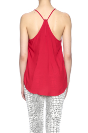 Ambiance Red Keyhole Top - Back cropped