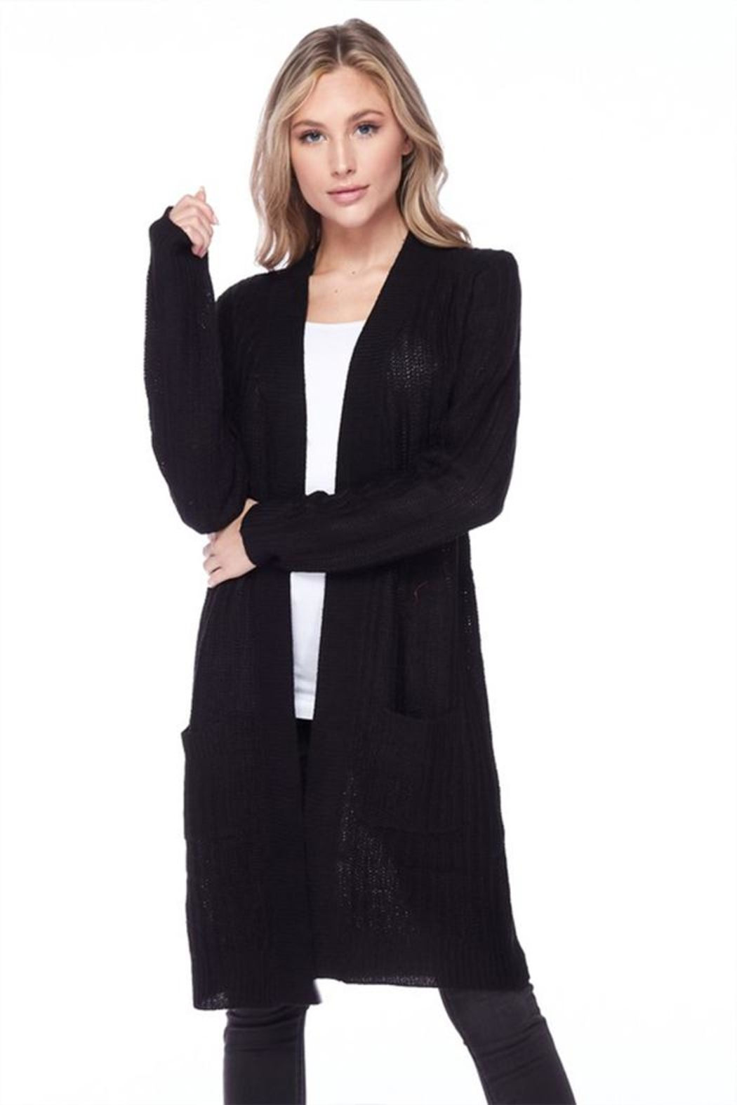 Ambiance Ribbed Duster Cardigan - Main Image