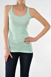 Ambiance Ribbed Racer Back Tank Top - Front cropped