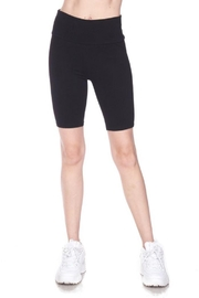 Ambiance Solid Waist Band Biker Shorts - Front cropped