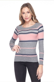 Ambiance Stripe Ribbed Sweater - Product Mini Image