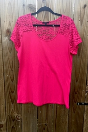 Ambiance Stylish Pink Top - Front cropped