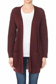 Ambiance Waffle-Knit Long Cardi - Product Mini Image
