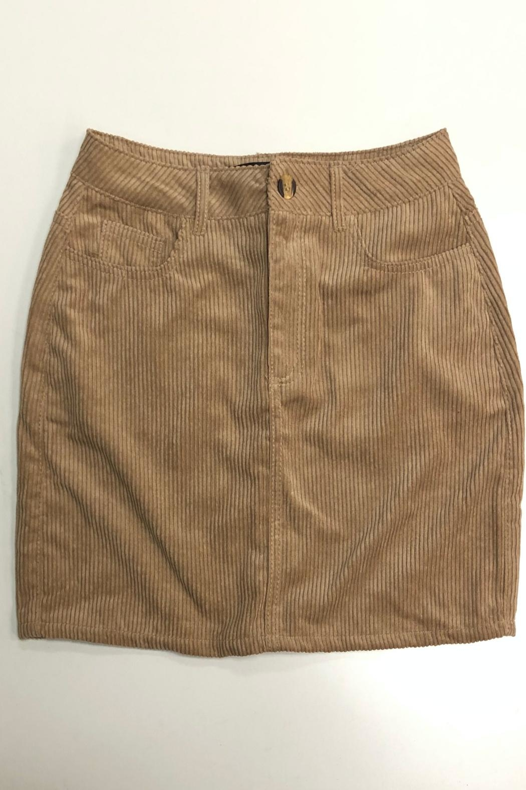 ambiance apparel Corduroy Skirt - Back Cropped Image