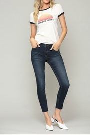 Hidden Jeans AMELIA DARK WASH SKINNY WITH A RAW HEM - Front cropped