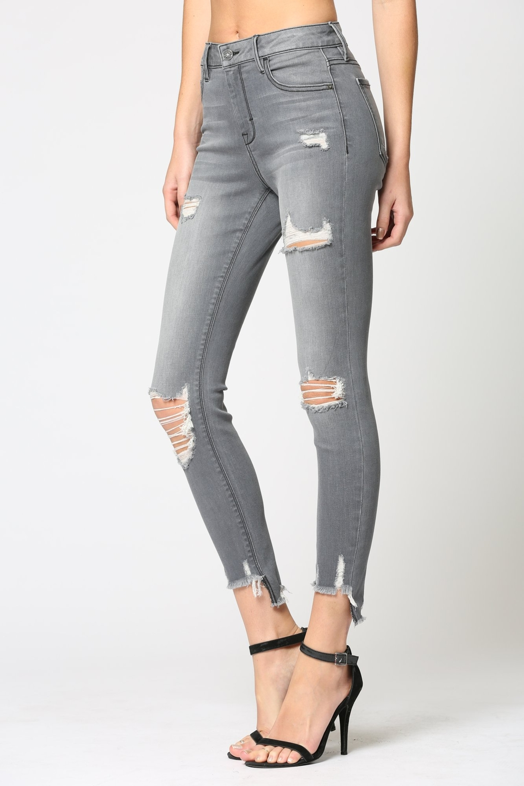 Hidden Jeans Amelia Mid Rise Skinny - Front Full Image