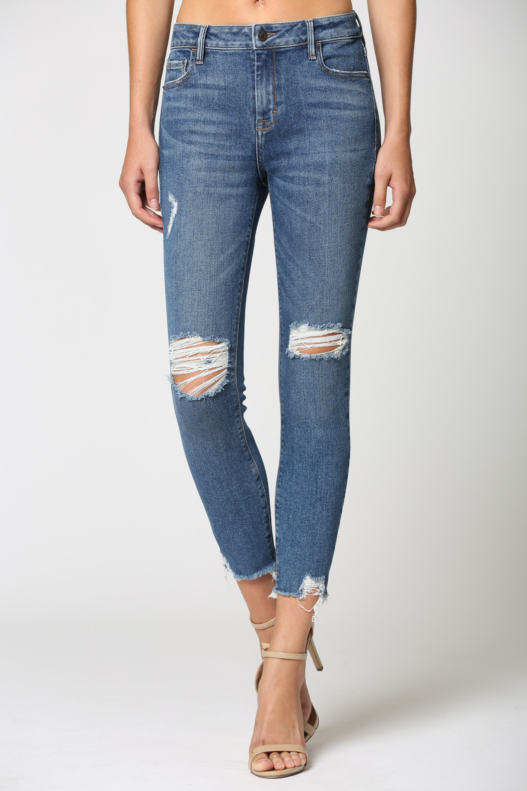 Hidden Jeans Amelia Mid Rise Skinny - MB - Front Full Image