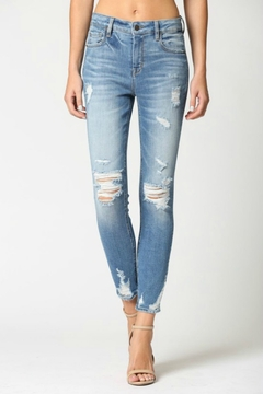 Hidden Jeans Amelia Midrise Distressed - Product List Image