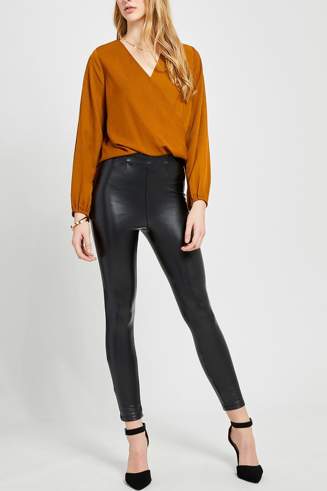 Gentle Fawn Amelie Faux Wrap top - Front Cropped Image