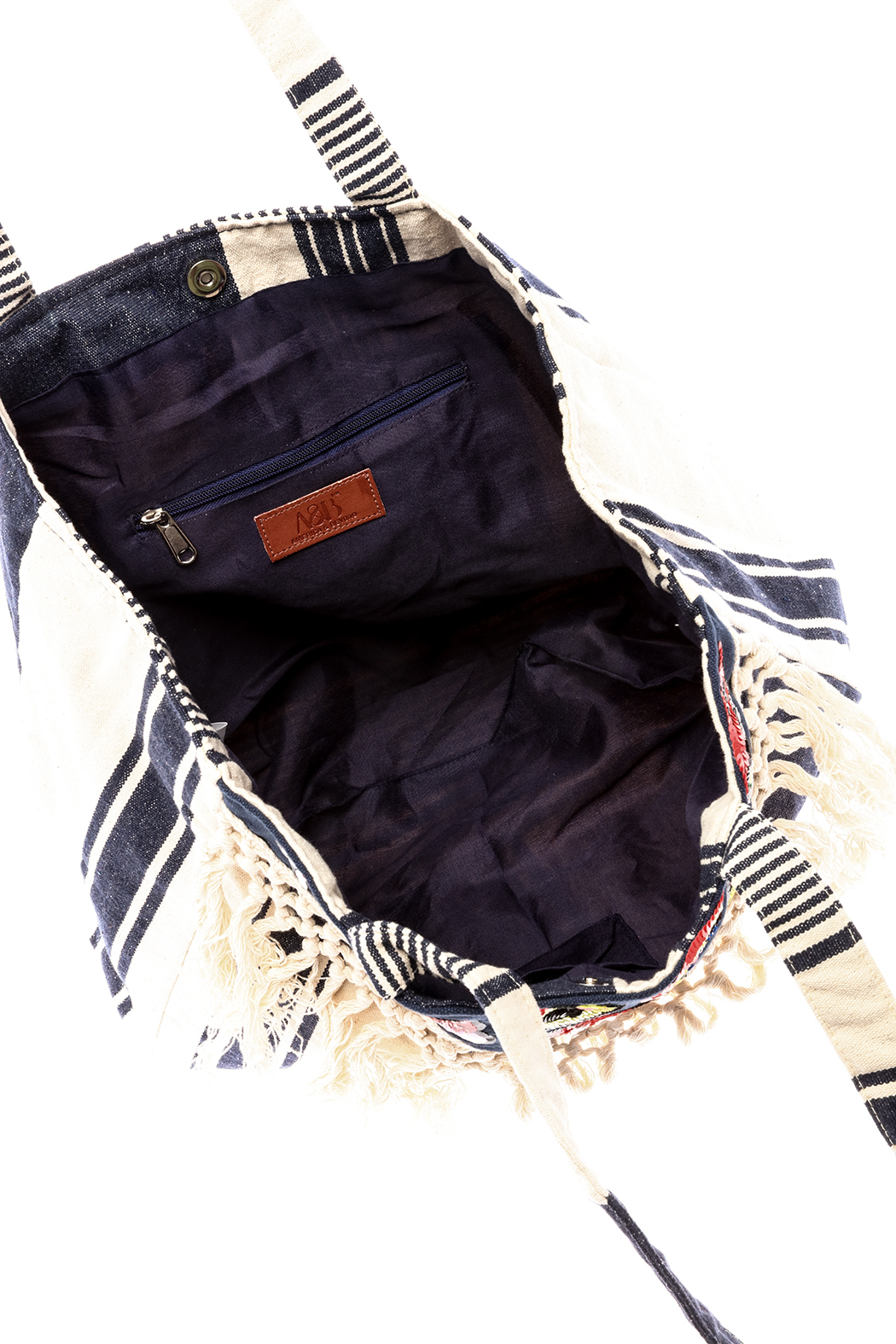 America & Beyond Fringe Patch Tote - Front Full Image