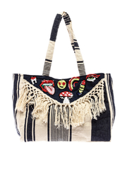 America & Beyond Fringe Patch Tote - Front cropped