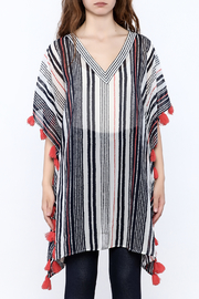 America & Beyond Striped Tasseled Kimono - Side cropped