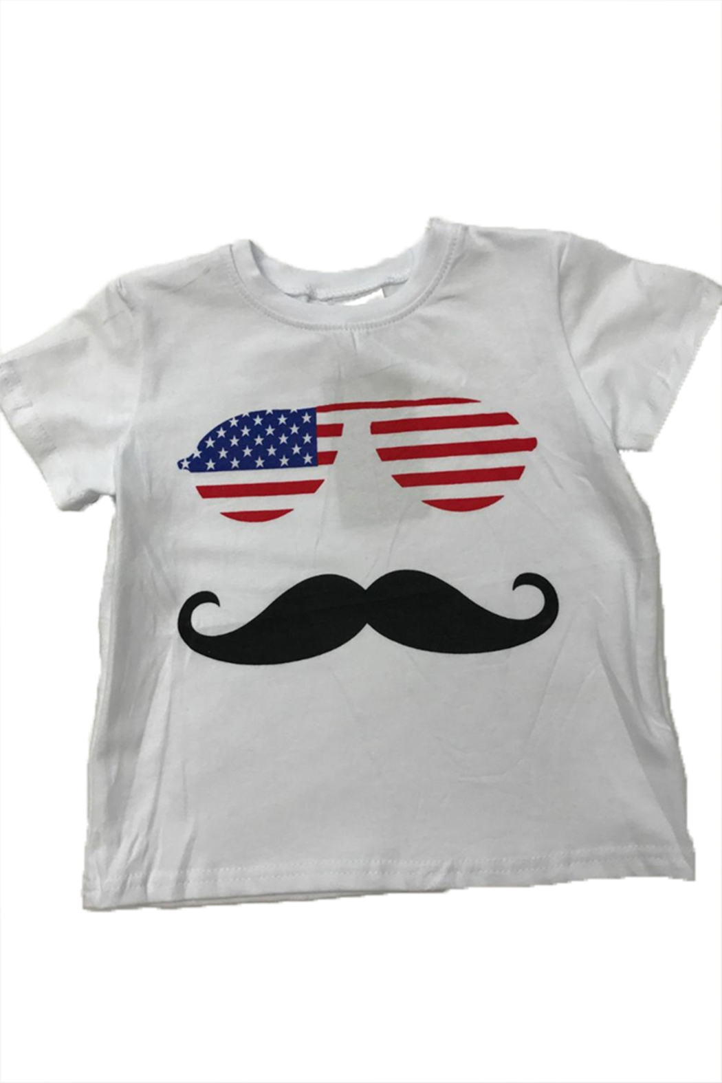 Lady's World America Mustache Tee - Main Image