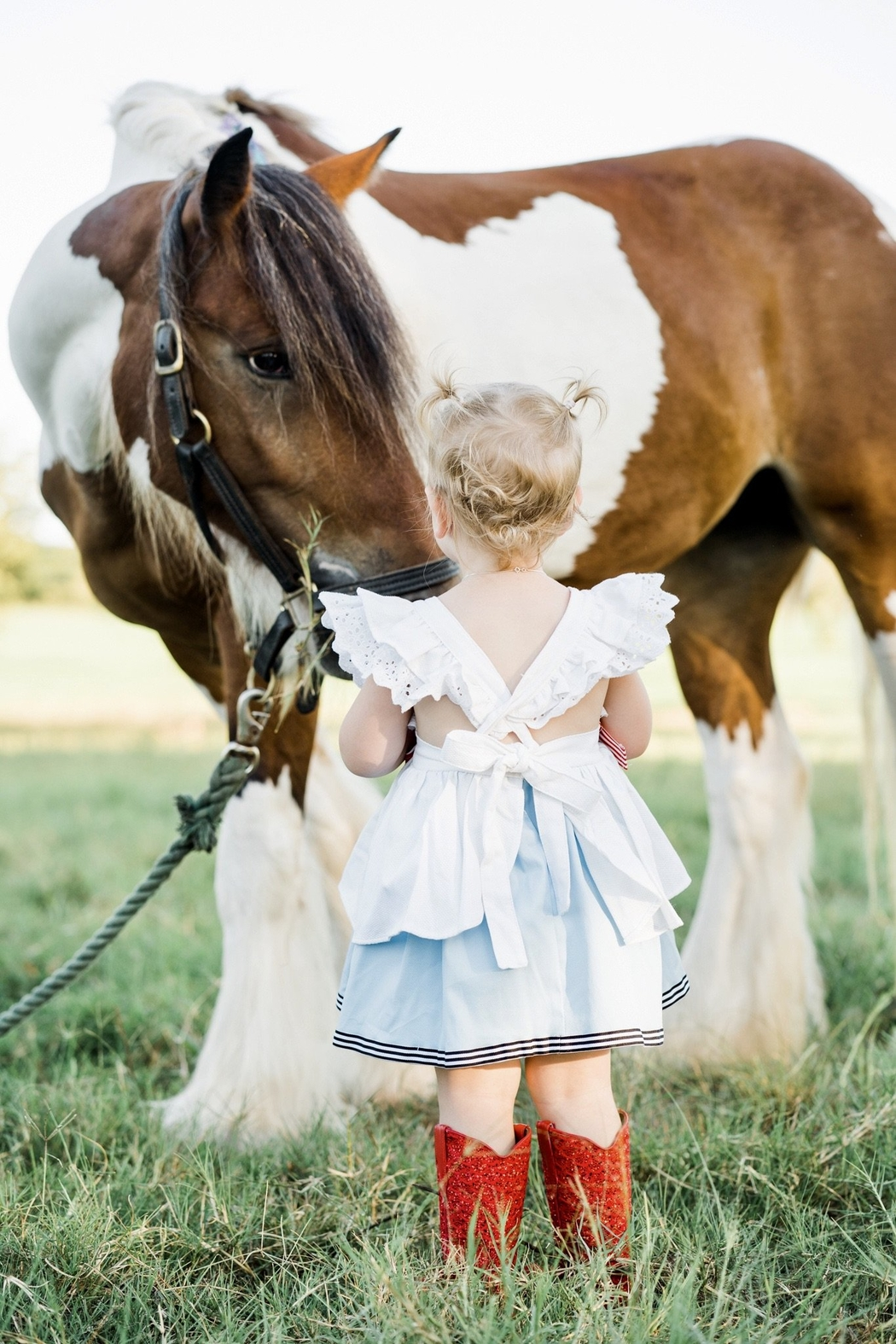 Runaway Pony America Pinafore Dress - Front Full Image