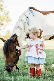 Runaway Pony America Pinafore Dress - Product Mini Image