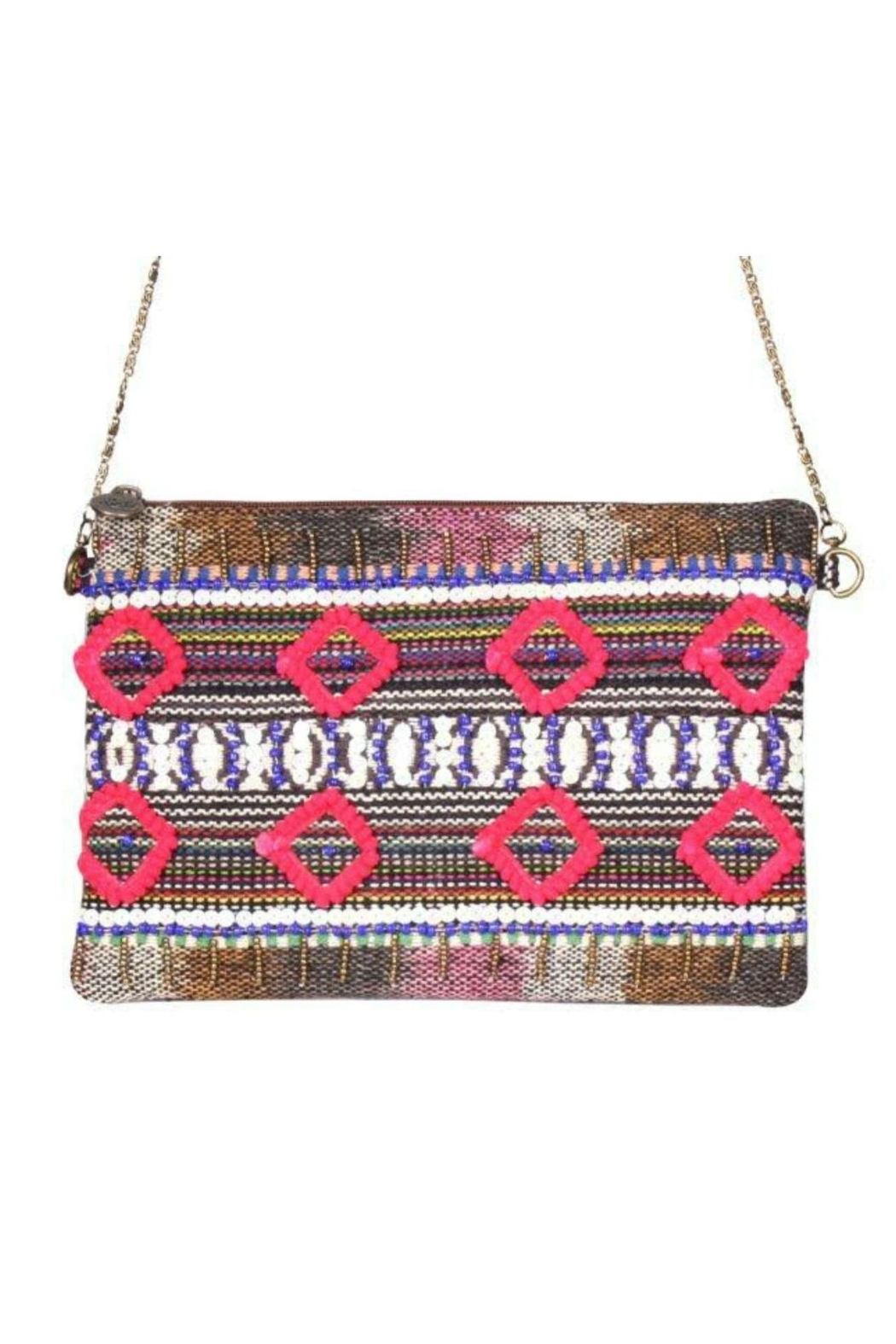 America & Beyond Beaded Embroidered Clutch - Main Image