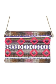 America & Beyond Beaded Embroidered Clutch - Product Mini Image