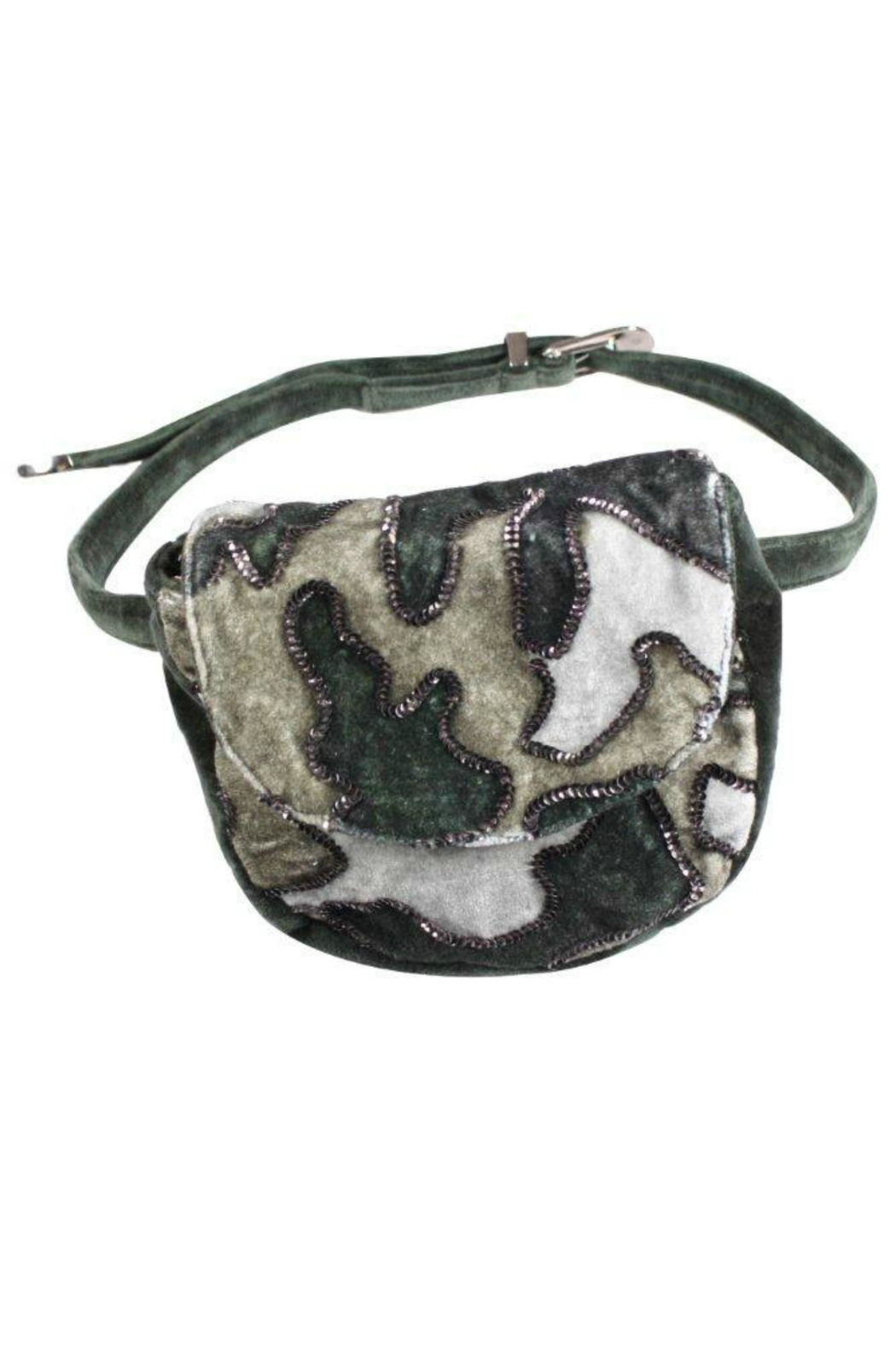 America & Beyond Velvet Sparkle Fanny Pack - Front Cropped Image