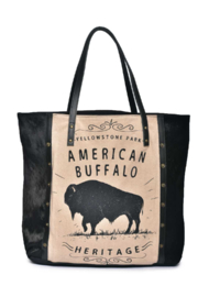 Cott N Curls American Buffalo Tote - Front cropped