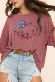 Blue Buttercup American Dream Tee - Front cropped