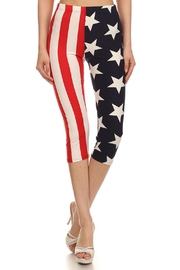 LEGGINGS MANIA American Flag Capris - Product Mini Image