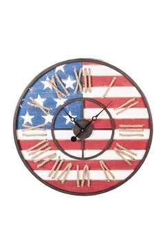 Evergreen Enterprises American Flag Clock - Product List Image