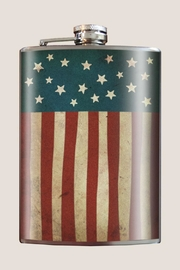 Trixie & Milo American Flag Flask - Front cropped