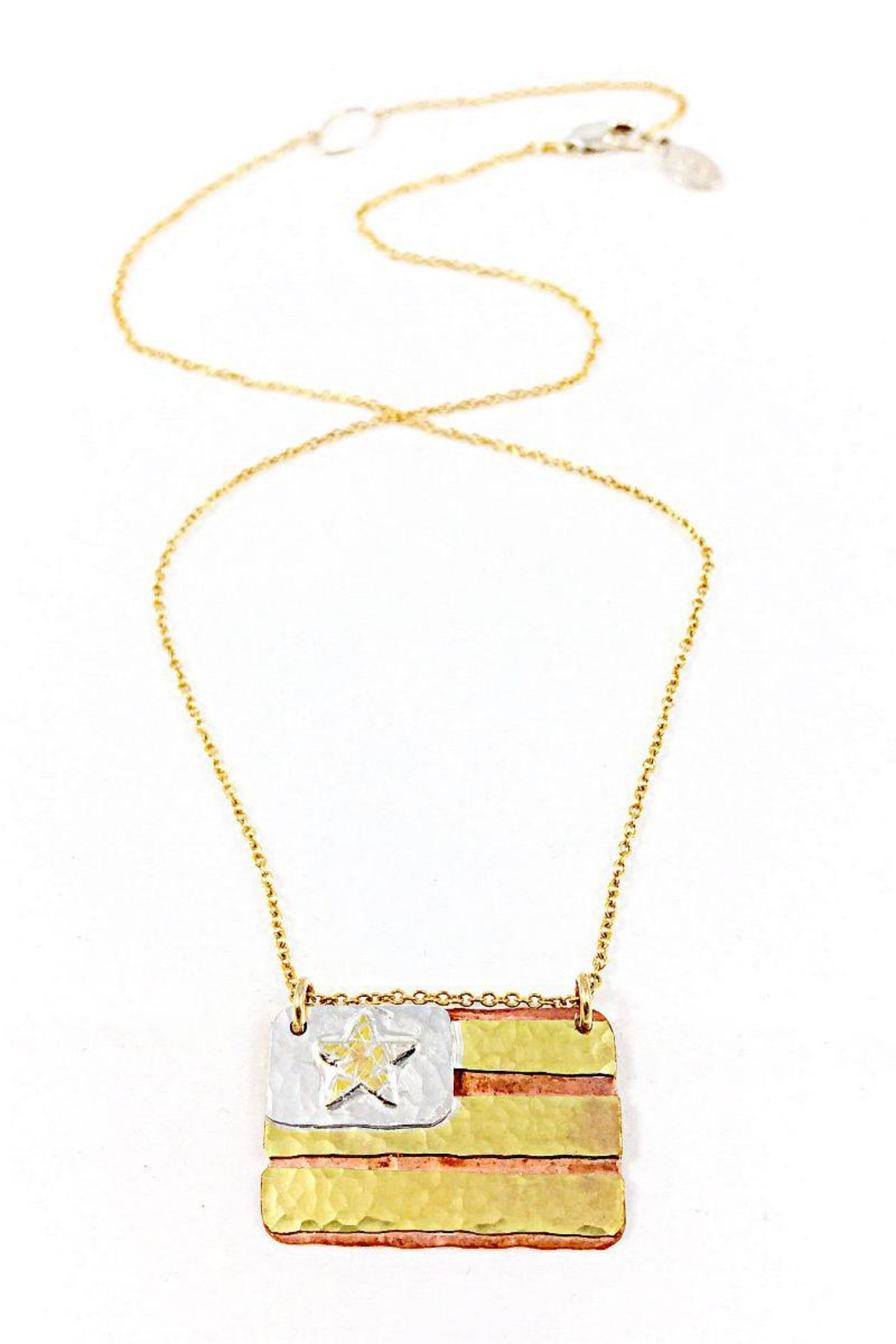 necklace pendant american flag s horse gold us claire