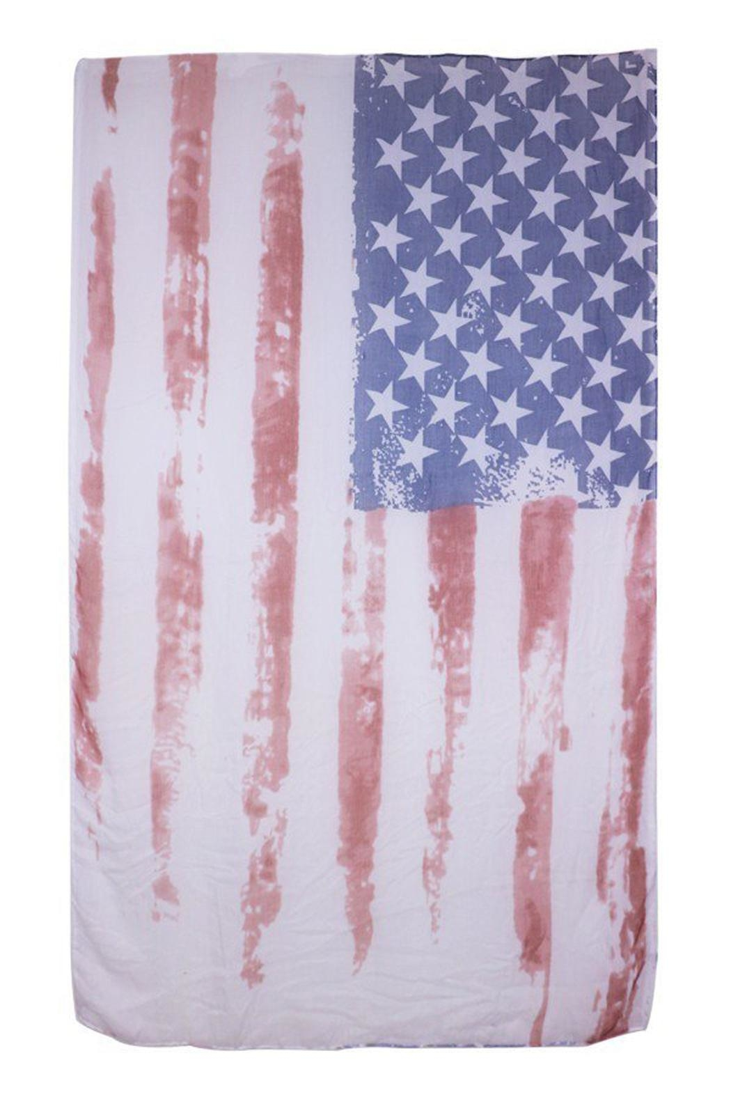 Look American Flag Scarf - Side Cropped Image