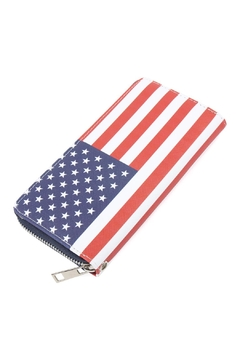 Shoptiques Product: American-Flag Single-Zipper-Wallet