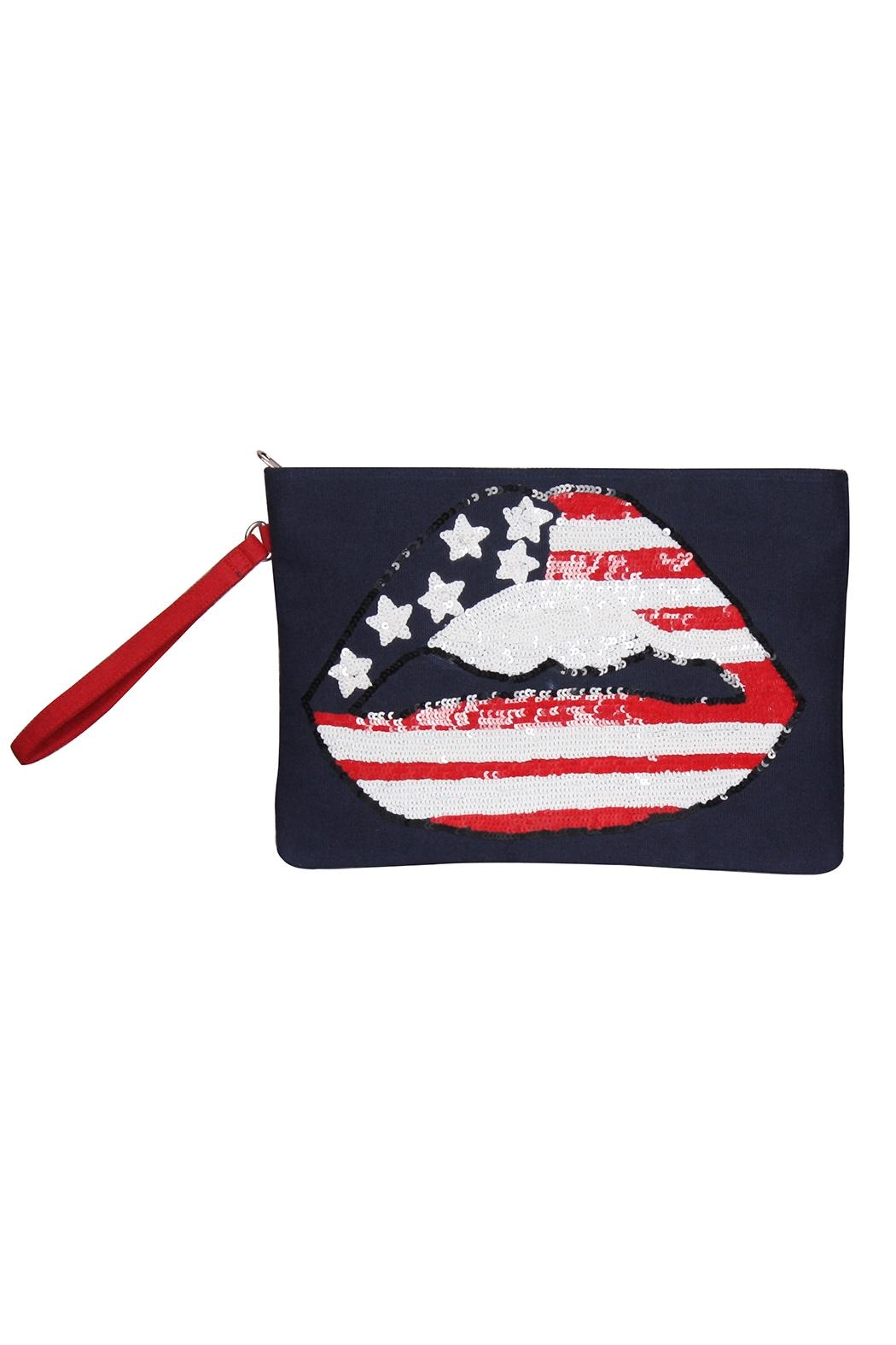 America & Beyond American Lip Clutch - Main Image