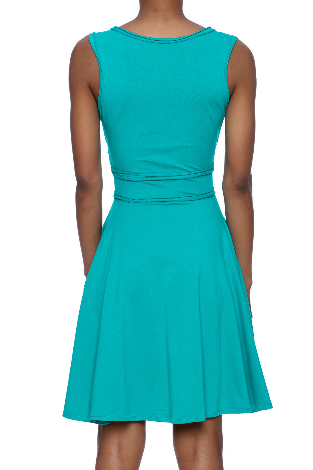 American South Side Our Favorite Dress - Back Cropped Image