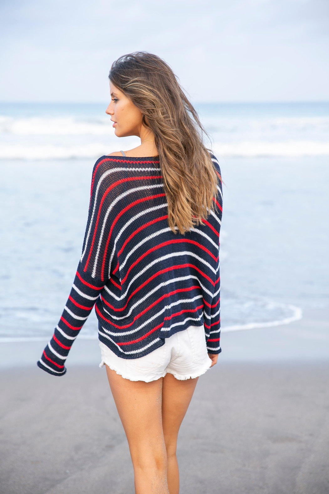 Wooden Ships American Stripe Sweater - Front Full Image