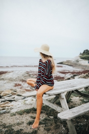 Wooden Ships American Stripe Sweater - Back cropped