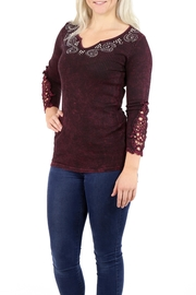 American Age Ribbed Henley - Front full body