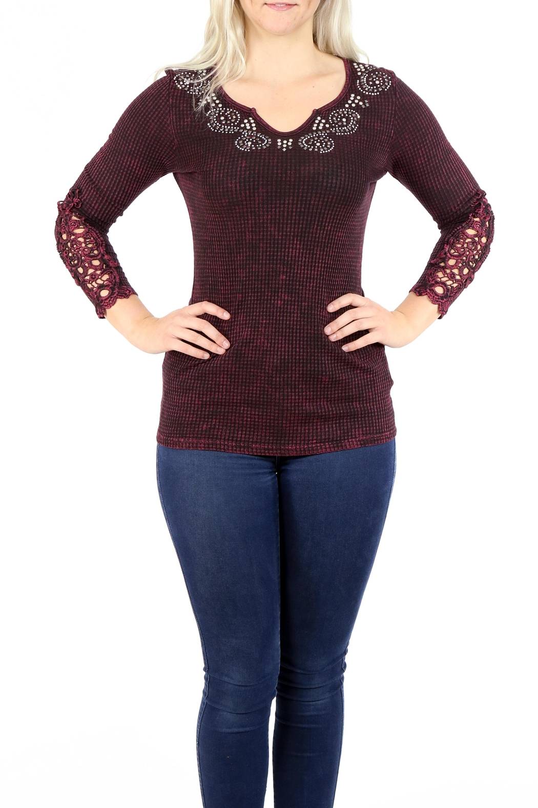 American Age Ribbed Henley - Main Image