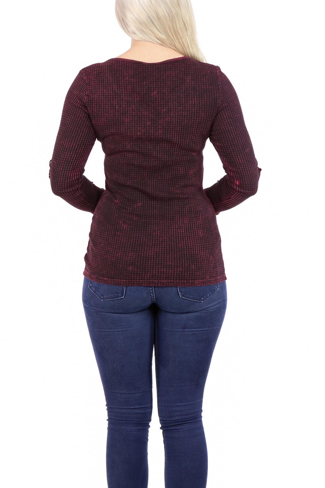 American Age Ribbed Henley - Side Cropped Image