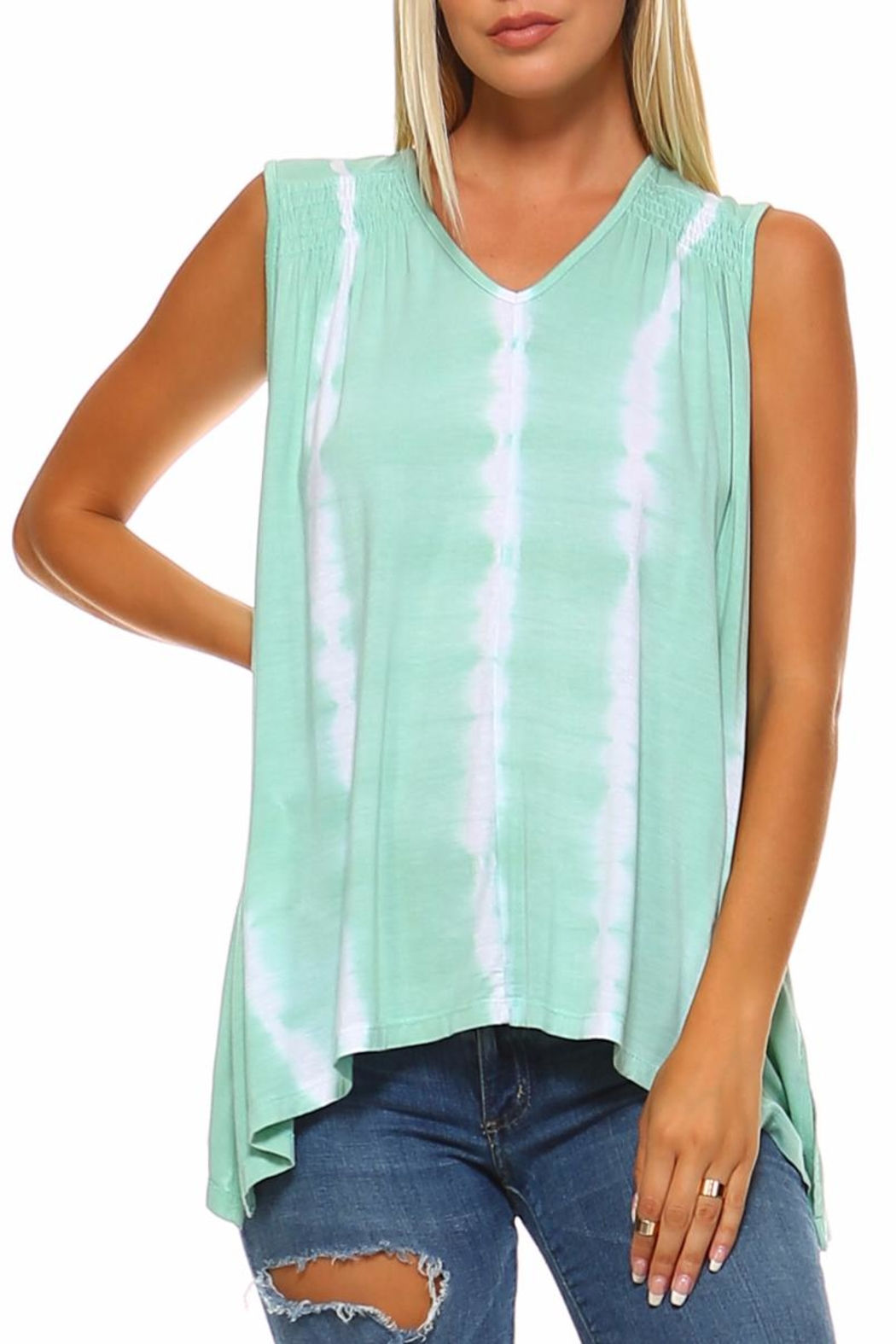 American Age Tie Dye Top - Front Cropped Image