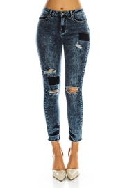 American Bazi Blue Plus-Size Jeans - Front cropped