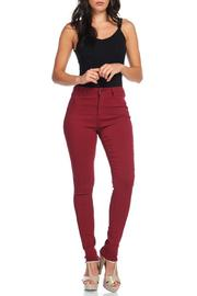 American Bazi Burgundy Skinny Pants - Product Mini Image